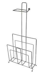 Wholesale TOILET PAPER Holder with Magazine Rack Bathroom Accessory, Chrome