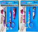 Wholesale 3 Pack Printed Manicure Set