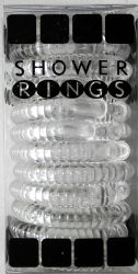 Wholesale Clear Shower Curtain Rings Set of 12