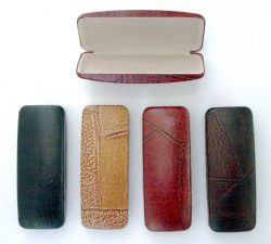 Wholesale LEATHER Look Eyeglass Case