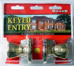 Wholesale Brass Keyed Entry DOORKNOB Set
