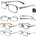 Wholesale Men's Crystal Striped Reading Glasses