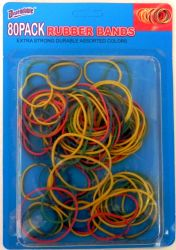 Wholesale RUBBER BANDS 80 Pack
