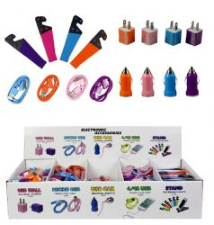 Wholesale CELL PHONE  Accessories Assortment on Counter Display in Colors