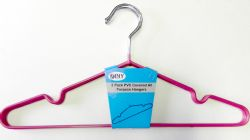 Wholesale DINY Metal 3 Pack Clothes Hanger Red with LINGERIE Groove