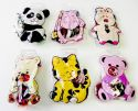 Wholesale Animal Pouches With Ponytail Holders Assorted Party Favor