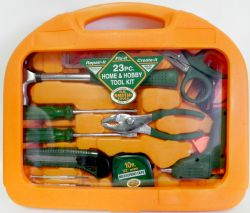 Wholesale 23 Piece Home & Hobby Tool Kit with Stacking Tool Tray