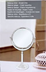 Wholesale Table Top Make Up MIRROR  2 Sided Regular and Double Magnification