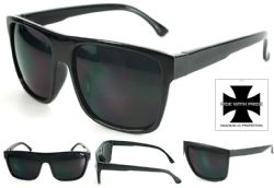 Wholesale Bikers MENS RIDE WITH PRIDE SUNGLASSES Black UV400