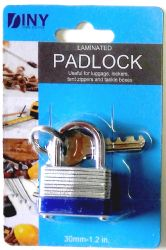Wholesale Laminated 30mm(1.2 inch) padlock with keys