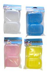 Wholesale 2 pack Plastic SOAP Dish Set