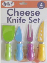 Wholesale 4 Piece Cheese Knife Set Great For All Types of Cheese