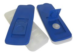 Wholesale DINY Home & Style No Spill Ice Cube Tray with Removable Cover Blue Set of 2 BPA Free