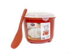 Wholesale Microwave Rice Steamer Cooker BPA Free 2.6L Red