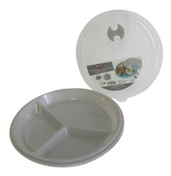 Wholesale Portion Control Divided Microwave Lunch Plate Set with Lid