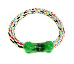 Wholesale Pet Dog Toy Rope Fetch With Rubber Bone