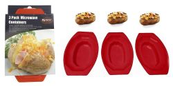 Wholesale 3 Pack Microwave Potato Cooker BPA Free Plastic