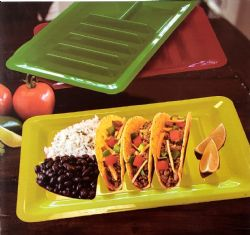 Wholesale 3 Piece Colorful Fiesta Taco Plates
