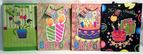 Wholesale Happy Birthday Medium Gift Bag