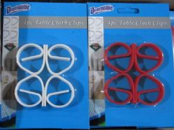 Wholesale Table Cloth Clips 4 Pack